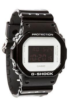 G-SHOCK Watch 5600 Limited Edition Medicom Watch in Black & White - Karmaloop.com