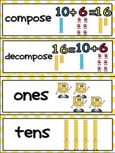 Math Vocabulary Word Wall Cards for Kindergarten Common Core Standards :) $
