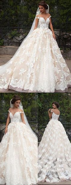 A-line Illusion Jewel Cap Sleeves Court Train Wedding Dress with Lace Appliques