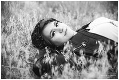 Black and White Senior Photo of girl laying in the grass. Outdoor Senior portraits in beautiful Colorado with mountain views. Denver Senior Photographer, Colorado Senior Photographer, Senior Photo, Senior Girl, Senior Posing Ideas, Leather Jacket, Beanie, Ripped Jeans, Eyeliner, Senior Girls What to Wear