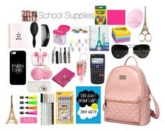 """""""Paris Themed School Supplies"""" by mermaidgirl1616 ❤ liked on Polyvore featuring interior, interiors, interior design, home, home decor, interior decorating, Post-It, BIC, Graphic Image and PhunkeeTree"""