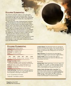 [OC] Total Eclipse of the...Elemental Plane : DnD
