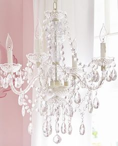 Draped With Clear Beads, This Hand Painted Chandelier Adds Elegant Drama To  Bedrooms And Nurseries. The Neutral Hued Design Gives It Enough Versatility  To ...