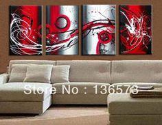 Résultats de recherche d'images pour « toile abstraite rouge gris »