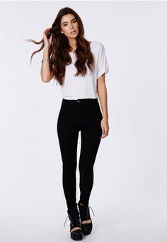 High rise black jeans