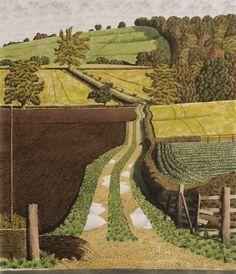 """Bridleway at Burton"" by Simon Palmer (watercolour, ink and gouache)"