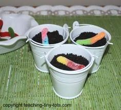 Toddler Recipes: Dirt Cake with Gummy Worms