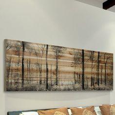 Parvez Taj 'Panoramic Forest' Graphic Print on Natural Pine Wood