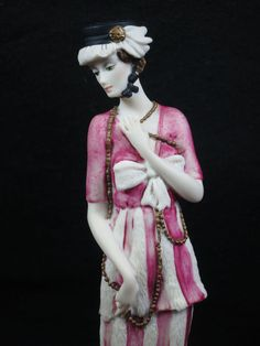 Vintage Giuseppe Armani #0411C Porcelain Figurine – Lady with Long Necklace