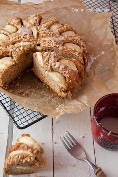 Ola in the Kitchen: Niesamowite ciasto z jabłkami i masłem orzechowym. *mąka do wymiany na bezglutenową