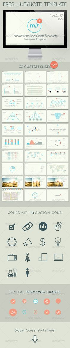 Mir- Minimalistic and Fresh Keynote Template - GraphicRiver Item for Sale