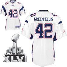 8d69effd2 New England Patriots 42 BenJarvus Green Ellis White 2012 Super Bowl Jersey Super  Bowl Jerseys