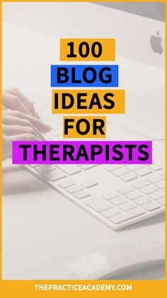 Are you a therapist or wellness provider who wants to boost their online marketing and attract more clients through blogging? Here are 100 free blog ideas for therapists and alternative care providers. Click through to read the whole post about how to find trending topics to blog about and download 100 blog topics to get you started writing!