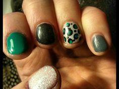 Leopard Print - Nail art - Shellac  Nails by Amanda at Salon Brands Wichita KS