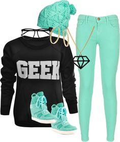 """Geek"" by fashionista-shawnte on Polyvore"