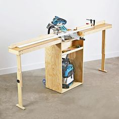 Portable Mitersaw Stand #WoodworkingPlans