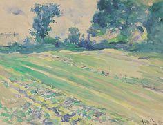 Władysław Podkowiński - Landscape, 1892 watercolor, paper French Impressionist Painters, Agra, Art Auction, Watercolor Paper, Home Art, Paris, Landscape, Antiques, Gallery