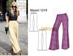 Los pantalones estilo palazzo están de vuelta este invierno. No puedes dejar de confeccionarte uno!!! Busca el molde en www.unicose.net / Código 10121219