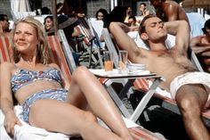 Pin for Later: The Most Memorable Movie Beach Scenes The Talented Mr. Ripley Marge (Gwyneth Paltrow) soaks up some sun while cavorting around Europe with Dickie (Jude Law).