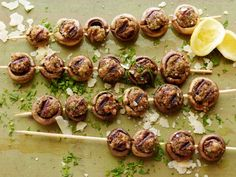 Stuffed-Mushroom Skewers are an all-time favorite appetizer. Slide the mushrooms onto a skewer and pop them on the grill for your next outdoor gathering.