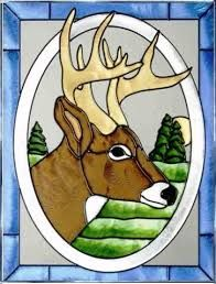 Image result for oval stained glass patterns deer