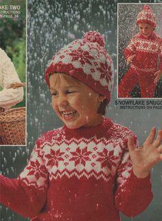 PDF Childs Sweater & Hat Knitting Pattern : by PDFKnittingCrochet