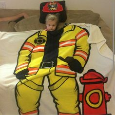 Cute firefighter blanket for the little one