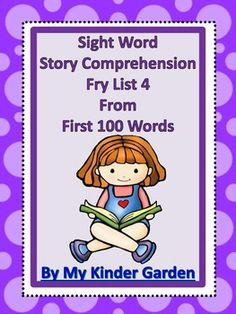 #SightWord #Story #Comprehension  This absolutely awesome item features both sight word and comprehension activities that go along with the words from #Fry list 4 from the First 100 words. The words are grouped in sets of five and there are two pages of activities for each set of words.  #languagearts #TPT #Teacherspayteachers #teachers #highfrequencywords #reading http://www.teacherspayteachers.com/Product/Sight-Word-Story-Comprehension-Fry-List-4-from-1st-100-Words-1584657