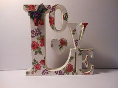 Freestanding love plaque with hanging heart for message/name .. https://www.facebook.com/PlaquesbyHeartyCrafts