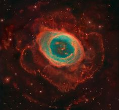 Except for the rings of Saturn, the Ring Nebula is probably the most famous celestial band. via NASA (photo: Credit: Composite Image Data - Subaru Telescope (NAOJ), Hubble Legacy Archive; Processing and additional imaging - Robert Gendler) Subaru Telescope, Hubble Space Telescope, Space And Astronomy, Telescope Images, Cosmos, Carina Nebula, Planetary Nebula, Nasa, Astronomy Pictures
