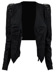 'Kayley' Studded Leatherette Jacket