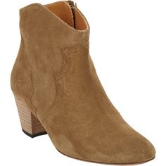 Isabel Marant Dicker Western Ankle Boot ($650) via Polyvore