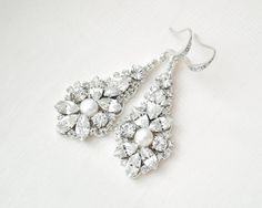 Statement Bridal Earrings Vintage Style by SarahWalshBridal
