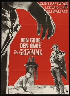 The Good, The Bad & The Ugly Danish movie poster R72. Sergio Leone, Clint Eastwood, Lee Van Cleef