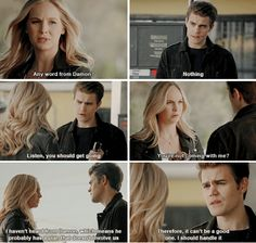 """Gods & Monsters"" - Caroline and Stefan Vampire Diaries Memes, Vampire Diaries Damon, Vampire Dairies, Vampire Diaries The Originals, Michael Malarkey, Michael Trevino, Damon Salvatore, Bonnie Enzo, Vampire Barbie"