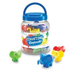 Amazon.com: Learning Resources Snap-n-Learn Counting Elephants: Toys & Games