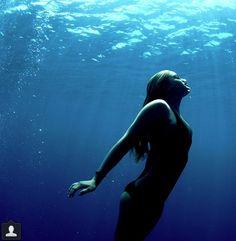 . Beach, underwater swim