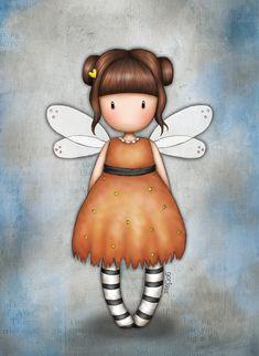 Eclectic Selection Little Pumpkin (Gorjuss) Drawing Wallpaper, Cute Cartoon Girl, Happy Paintings, Little Pumpkin, Fairy Art, Cute Illustration, Stone Painting, Rock Art, Cute Drawings