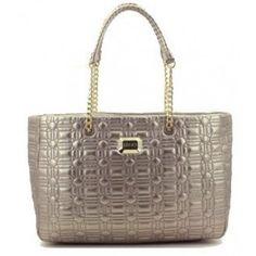Zeer mooie bronskleurige metallic doorgestikte tas (à la Chanel) van Liu Jo!  Het 43441c15e55