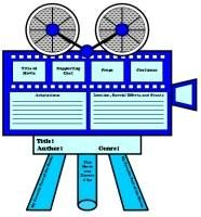 Movie Camera Book Report Project: templates, worksheets, and grading rubric. Book Report Projects, Book Projects, Reading Lesson Plans, Reading Lessons, Project Writing, Writing Ideas, Creative Writing, Book Report Templates, The Body Book