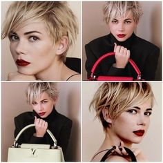 I love Michelle Williams short haircut :-) I wish I had the nerve to go back to this cut.