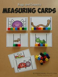 Measuring Cards -These make for a fantastic non-standard measurement activity for preschoolers.