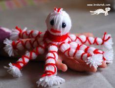 играчки от прежда - как да си направим сами октопод