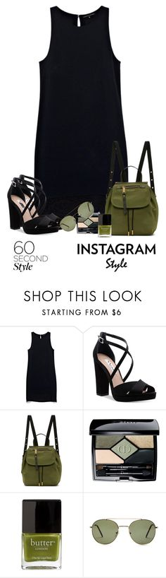 """#592"" by shoujoandmore ❤ liked on Polyvore featuring Justicia Ruano, Nina, Marc Jacobs, Christian Dior, Butter London, Forever 21, modern, instagram and 60secondstyle"