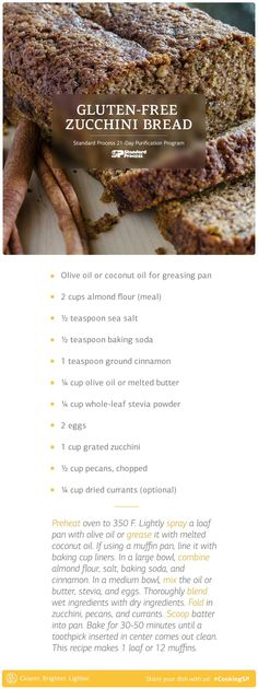 This gluten-free version of zucchini bread is made with almond flour.