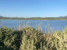 Bij het grote binnenmeer Limni Korission.