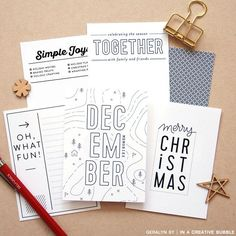 Image of Classic Holiday Journaling Cards (Digital)