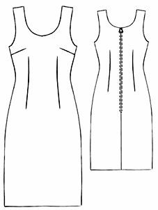 Free sewing pattern Small Black Dress - Moldes de Costura Vestidos | EL BAÚL DE LAS COSTURERAS