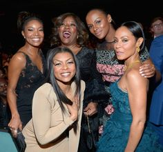Pin for Later: 30 Photos From the NAACP Image Awards That You Need to See Now Pictured: Jada Pinkett Smith, Taraji P. Henson, Gabrielle Union, Tika Sumpter, and Loretta Devine Gabrielle Union, Black Girls Rock, Black Girl Magic, Loretta Devine, Tika Sumpter, Lab, Black Actresses, Black Actors, Vintage Black Glamour