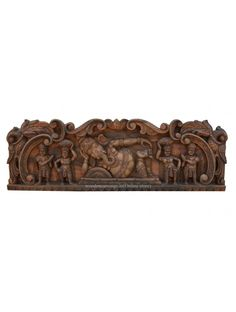 Antique Finished Reclining Ganesha Wall Panel